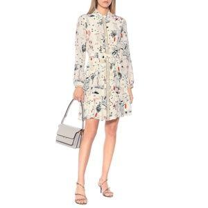 Tory Burch Cora Floral Silk Shirt Dress size 2